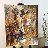 Eine Frau spielt die Geige Bilder Malen nach Zahlen handgemalte Leinwand Cartoon Zeichnung DIY Ölgemälde von Zahlen-With frame