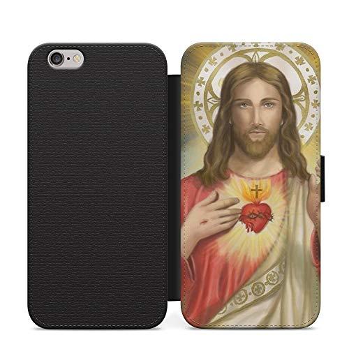 Sunset Christian Cross Jesús Wallet cuero Flip teléfono caso cubierta para iPhone 8