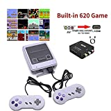 Super SFC Retro Game Console with Built in 620 Games and 2 pack Controllers,Classic Mini Retro Game System Handheld,AV and HDMI Output TV Retro Gaming Console for Kids and Adults as an Ideal Gift.