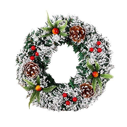 Yiyu Corona De Navidad Artificial - Corona De Navidad Realista Remolque Hermosa...