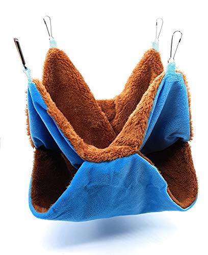 RatsLive® Nagetier Hängematte für Ratten, Hamster, Chinchillas und Eichhörnchen 35 × 35 cm (Blau)