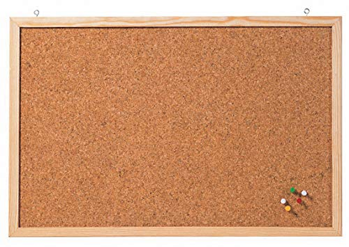 Franken CC-KT6080E Korktafel Naturrahmen, 60 x 80 cm