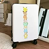 DSSJ Dibujos Animados Pokémon Elf Sticker Equipaje Maleta Trolley Case Sticker Hoja Entera Grande