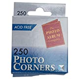 Photo Album Company Photo Corners White Pack of 250 PC250