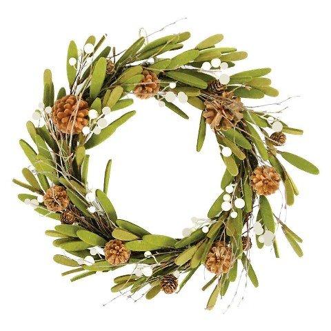 Holiday Felt & Pinecone Wreath 18in