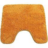DILUMA   WC Vorleger mit Ausschnitt 45x50 cm Orange   Badteppich   Flauschiger Hochflor, Weich,...