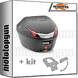 kappa maleta k34n 34 lt + portaequipaje monolock compatible con kymco xciting 250 300 500 2007 07 2008 08