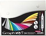 GRAPH'IT Brush Set de 24 Marqueurs double pointe - Essential Colors