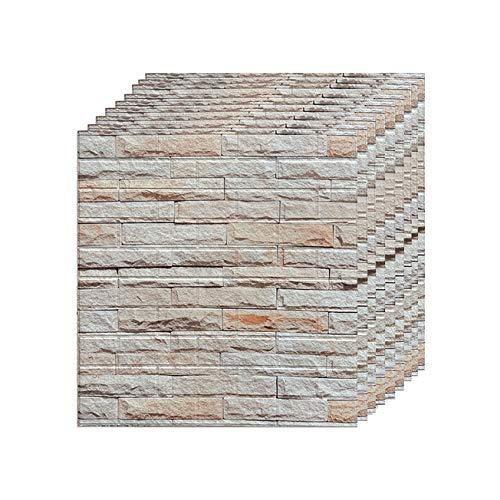 LXZFJW 3D Wallpaper Brick Wall Stickers Self-Adhesive XPE Wallpaper Peel and Stick Wall Panels for TV Walls Sofa Background Wall Decor-Zw-104 30pcs