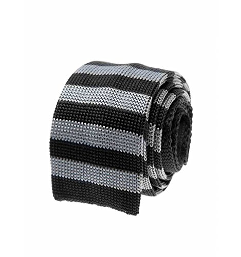 Bruce Field Cravate fine en maille tricot de soie rayée