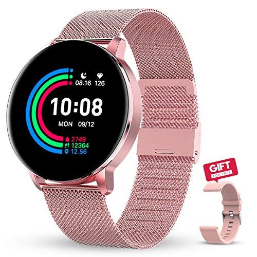GOKOO Reloj inteligente para mujer con monitor de sueño de frecuencia cardíaca