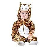 Disfraz de leopardo - felpa suave - forro polar - mono - mono - disfraz - carnaval - halloween - niña - bebé - cosplay - 0/6 meses - idea de regalo para navidad y cumpleaños