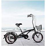 YZ-YUAN Triciclo de Deportes al Aire Libre para Adultos de 16 Pulgadas y 3...