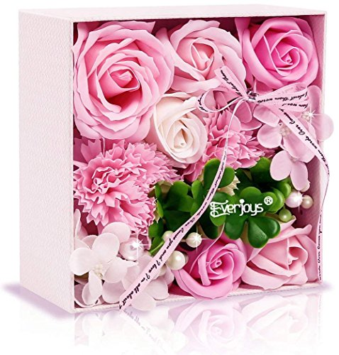 ソープフラワー 創意方形ギフトボックス 誕生日 母の日 記念日 先生の日 バレンタインデー 昇進 転居...