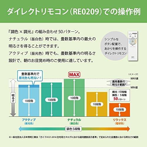 NECLEDシーリングライト調色/調光タイプ~8畳HLDC08223SG
