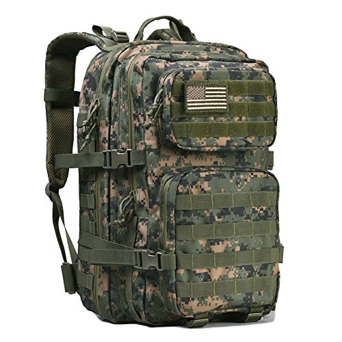 Military Tactical Backpack Large Army 3 Day Assault Pack Molle Bag Backpack Rucksacks for Outdoor Hunting Hiking Camping Trekking Woodland Digital Camouflage