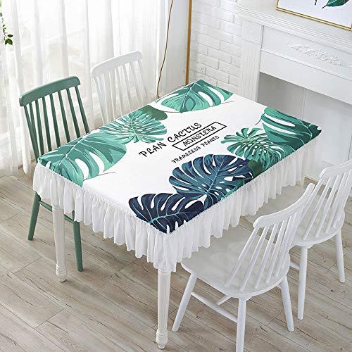 DJUX - Mantel de picnic (120 x 60 x 25 cm, 140 x 80 x 25 cm), diseño de plantas verdes pequeñas y frescas, Canna, 150*90*25cm