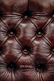 Journal: Tufted Leather Look Blank Lined Writing Notebook