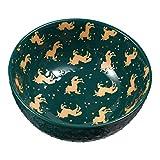Cabilock Tazón de Sopa de Cerámica Unicornio Ensalada de Cereales Cuencos de Pasta Niños Comida de Cerámica Cuencos de Arroz Tazón de Porcelana para La Cocina Casera Verde