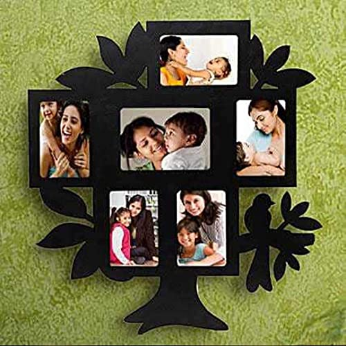 Dhruvi Studio & Gifting Personalized/Customized Photo Family, Mom, Baby Friend, Girlfriend Print Wall Hanging Tree Frame 15x15 inch
