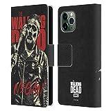 Head Case Designs Licenciado Oficialmente AMC The Walking Dead Negan Retratos de Personajes de la Temporada Carcasa de Cuero Tipo Libro Compatible con Apple iPhone 11 Pro