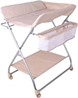 YXNN Folding Baby Changing Table For Newborn, Massage Care Table Nursery Dresser Station With Storage Bag, Baby Diaper Station (Color : With roller)