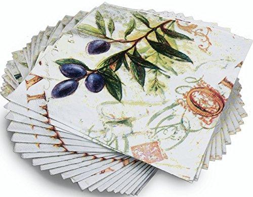 Toscana raccolto stampato olive design tovaglioli di occasione
