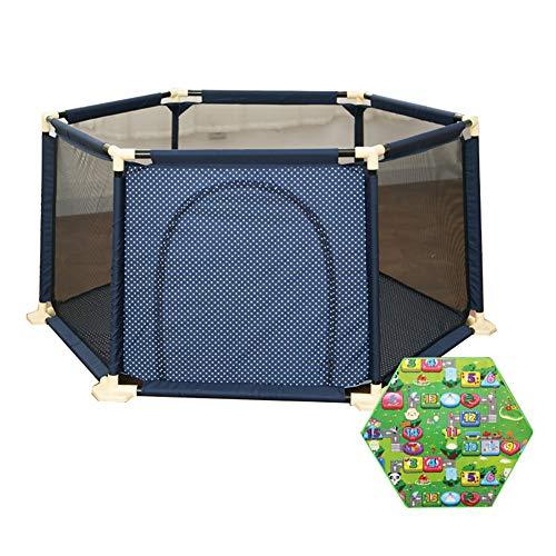 Baby Laufgitter Matratze Kleinkind Sicherheit Spiel Hof Aktivität Center Anti-Kollision Anti-Rollover Mit Tür 6 Panel Playard (größe : 180×66.5cm)