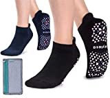 Non Slip Yoga Socks for Women with Anti Skid Grips, Pilates, Barre, Hospital, House, Cushioned, Sticky, Ankle Cut