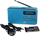 MEZON Portable FM Radio Player Mini Speaker Music Player (Multi Color)