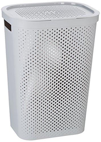 Curver 231008 Infinity Dots Coffre à linge Plastique Gris 44 x 36 x 61 cm 60 L