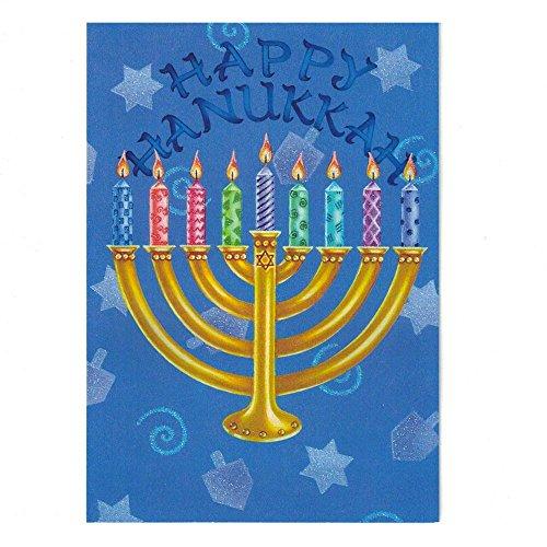 Set of 2 Happy Hanukkah Candles Greeting Cards