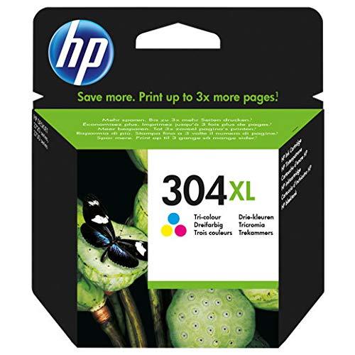 Cartuccia HP 304XL Colore Originale per HP DeskJet 3720 3730 3732 N9K07AE 304XLC, Capacità: 300 Pagini
