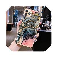 ファッション大理石テクスチャストーンフォンケースFor iPhone11 11Pro Max X XR XS Max 7 8 6 6sPlusソフトTPUシリコンバックカバーCoque-A1350-For iPhone XS Max