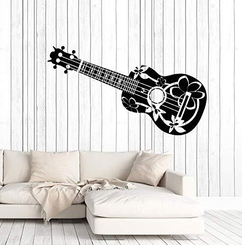 SUPERSTICKI Hawaii gitaar ca 60 cm muursticker sticker professionele kwaliteit voor gladde oppervlakken stickers