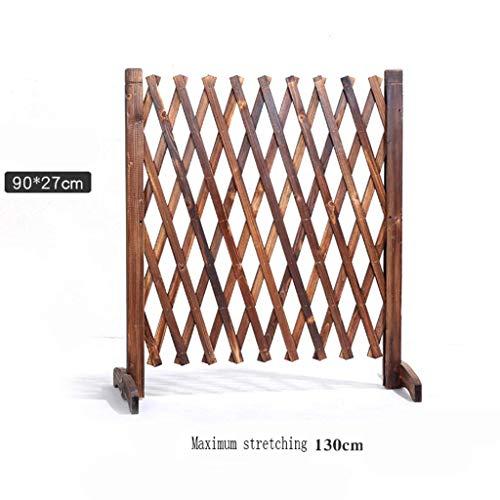 Gartenzaun, karbonisierter Korrosionsschutzzaun aus Holz, Teleskopgitterzaun Innen- und Außentrennwand Dekorativer Zaun 90 * 130 cm