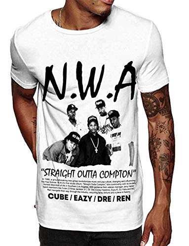 Swag Point Hip Hop T-Shirt - Funny Vintage Street wear Hipster Parody (L, NWA Poster)