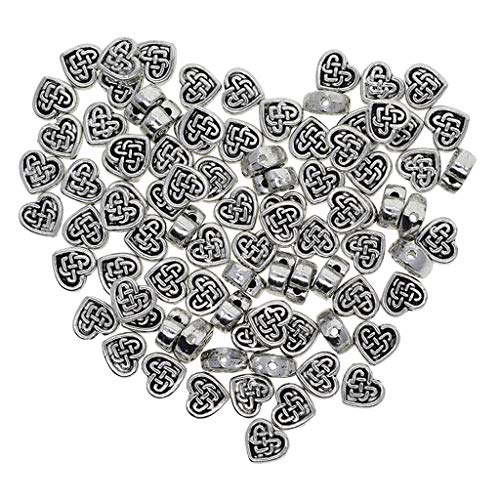 100 Celtic Knot Beads Heart Jewelry Making Beads DIY Jewelry Making Findings