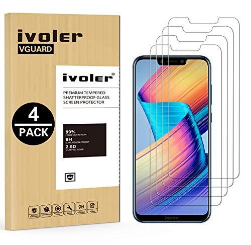 iVoler [4 Pack] Pellicola Vetro Temperato per Huawei Honor Play, Pellicola Protettiva, Protezione per Schermo