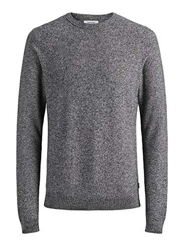 Jack & Jones Jjestructure Knit Crew Neck Noos suéter, Gris (Jet StreamJet Stream), Medium para Hombre