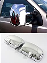 MaxMate Fits 97-06 Ford F250/F350/F450 Super Duty Chrome Mirror Cover W/O Hole for Turning Light