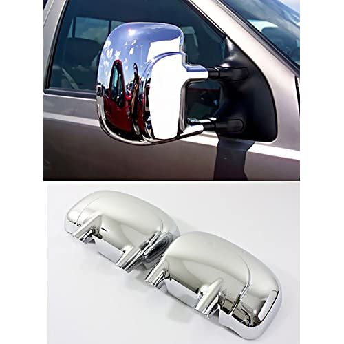 1999-2007 FORD F250 F350 F450 F550 GLOSS BLACK Mirror Covers TOW w//o turn signal