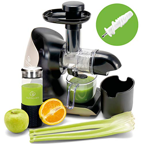 **BRANDNEU** GREEN-PRESS KERAMIK Horizontaler Slow Juicer mit Keramik Pressschnecke BPA-frei |...