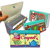Resealable Coupon Organizer Booklet | Receipt Organize by Category | Divided Coupon Book for Purse (4 Pack)