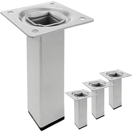 Element System 18133-00288 Pie para muebles, Aluminio Blanco ...