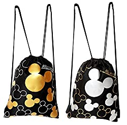 Best Disney Travel Bags & Accessories featured by top US Disney blogger, Marcie and the Mouse: Mickey Mouse drawstring backpack