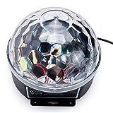Mobestech Crystal Magic Ball - Lámpara LED de control de voz digital con mando a distancia