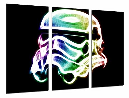 Wandbild - Star Wars, Darth Vader Army Helm, 97 x 62 cm, Holzdruck - XXL Format - Kunstdruck, ref.26628