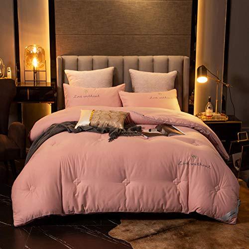 CHOU DAN Duvet Couverture,Super Dicke Und Warme Bettdecke Verdoppelt Die Energieeinsparung-200 * 230 / Gesamtgewicht 3,5 Kg_rosa