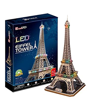 CubicFun- Puzzle 3D LED Torre Eiffel (CPA Toy Group Trading S.L. 5523214)